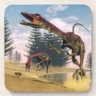 Dinosaurios de Compsognathus - 3D rinden Posavasos