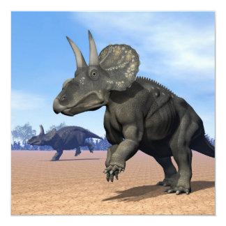 Dinosaurios de Diceratops/nedoceratops en el Invitación 13,3 Cm X 13,3cm
