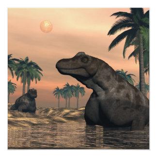Dinosaurios de Keratocephalus - 3D rinden Invitación 13,3 Cm X 13,3cm