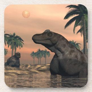 Dinosaurios de Keratocephalus - 3D rinden Posavasos