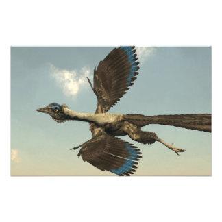 Dinosaurios de los pájaros del Archaeopteryx que Papelería