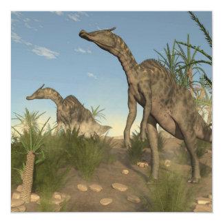 Dinosaurios de Saurolophus - 3D rinden Invitación 13,3 Cm X 13,3cm