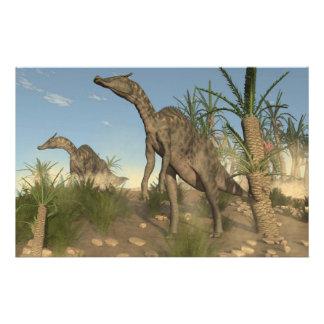 Dinosaurios de Saurolophus - 3D rinden Papelería