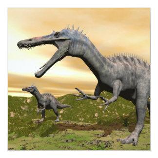 Dinosaurios de Suchomimus - 3D rinden Invitación 13,3 Cm X 13,3cm