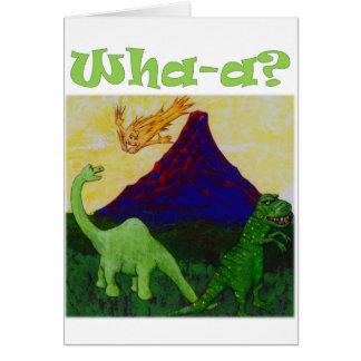 Dinosaurios de Surpsied Tarjeta De Felicitación