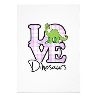 Dinosaurios del amor invitación personalizada
