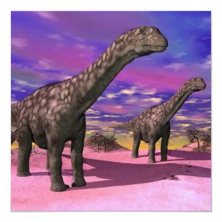 Dinosaurios del Argentinosaurus - 3D rinden Invitación 13,3 Cm X 13,3cm