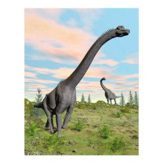Dinosaurios del Brachiosaurus - 3D rinden Folleto 21,6 X 28 Cm