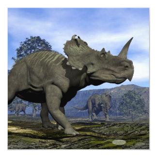 Dinosaurios del Centrosaurus - 3D rinden Invitación 13,3 Cm X 13,3cm