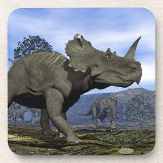 Dinosaurios del Centrosaurus - 3D rinden Posavasos