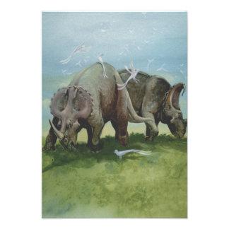 Dinosaurios del Centrosaurus del vintage en el pra Invitación