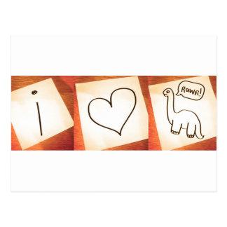 ¡Dinosaurios del corazón I! Postal
