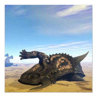 Dinosaurios del Einiosaurus muertos Invitación 13,3 Cm X 13,3cm
