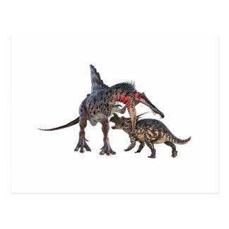 Dinosaurios en duelo postal