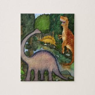 Dinosaurios en el rompecabezas de la cala