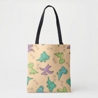 Dinosaurios lindos bolsa de tela