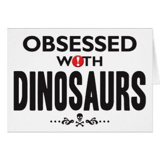 Dinosaurios obsesionados tarjeta de felicitación