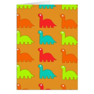 Dinosaurios que caminan del modelo lindo de Dino Tarjeta De Felicitación