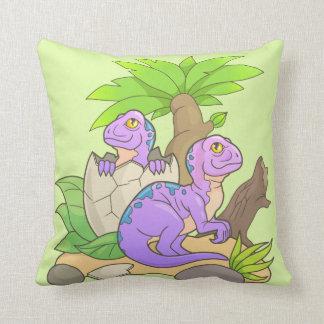 dinosaurios recién nacidos cojín decorativo