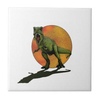Dinosaurios T-Rex Azulejo Cuadrado Pequeño