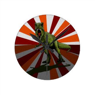 Dinosaurios T-Rex Reloj Redondo Mediano