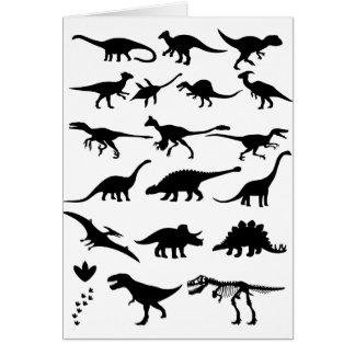 Dinosaurios Tarjeta De Felicitación
