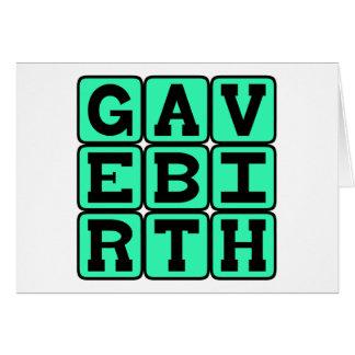 Dio a luz, regalo para la nueva madre tarjeta de felicitación
