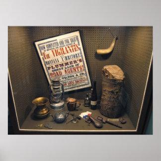 Diorama de Henry Plummer del agente de camino - Póster