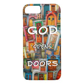 Dios abre único colorido de las puertas funda para iPhone 8/7