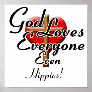 ¡Dios ama a hippies Impresiones