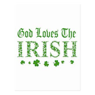 Dios ama a los irlandeses postal