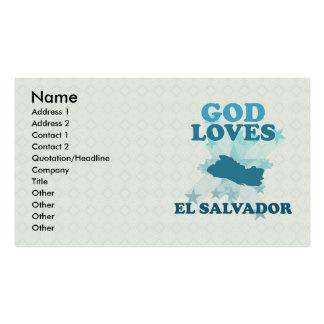 Dios ama El Salvador Tarjeta De Visita