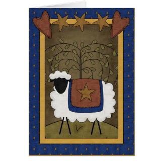 Dios ama ovejas de la oveja tarjetas