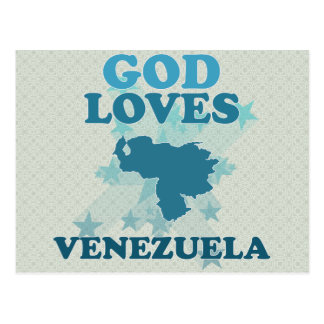 Dios ama Venezuela Postal