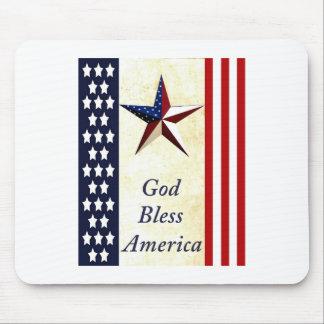 Dios bendice América Mousepad Alfombrilla De Ratón