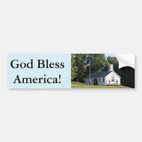 ¡Dios bendice América!  pegatina para el Pegatina Para Coche
