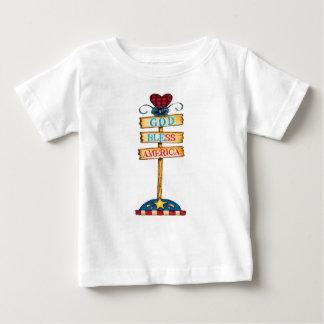 """Dios bendice camiseta del bebé de América """""""