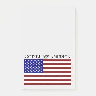 Dios bendice de la bandera blanca de América notas
