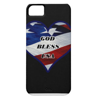Dios bendice los E.E.U.U. iPhone 5 Case-Mate Fundas