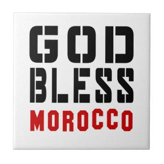 Dios bendice Marruecos Azulejo Cuadrado Pequeño