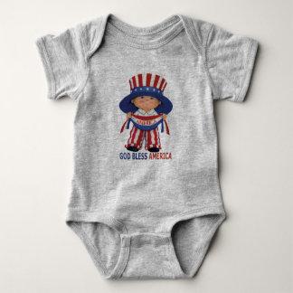 """Dios bendice mono del bebé de América """" Body Para Bebé"""