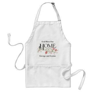 Dios bendice nuestro hogar: Personalizado Delantal