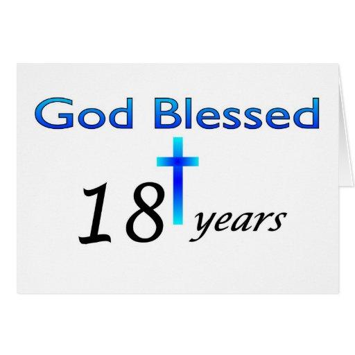 Dios bendijo 18 años de regalo de cumpleaños felicitaciones