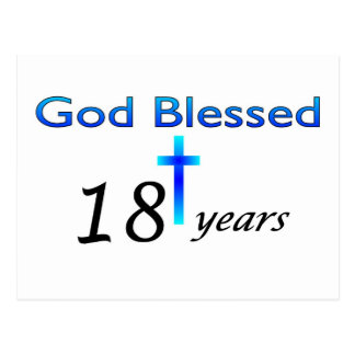 Dios bendijo 18 años de regalo de cumpleaños postal