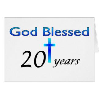 Dios bendijo 20 años de regalo de cumpleaños felicitación