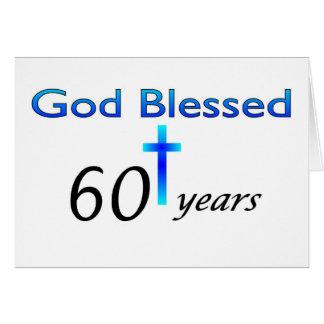 Dios bendijo 60 años de regalo de cumpleaños felicitacion