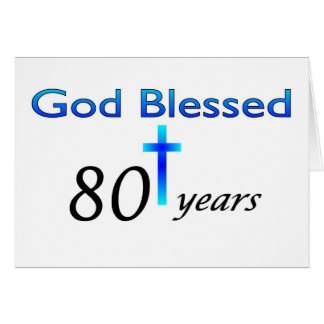 Dios bendijo 80 años de regalo de cumpleaños tarjetas