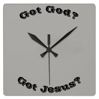 ¿Dios conseguido? ¿Jesús conseguido? Reloj