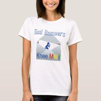 Dios contesta a la camiseta de la fe del correo de