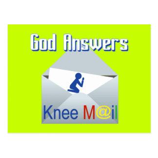 Dios contesta a la postal del regalo del correo de